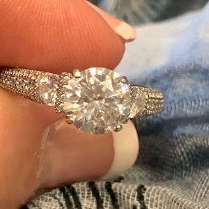 1.85 Ct. VVS1 DEF Brilliant White Moissanite Ring